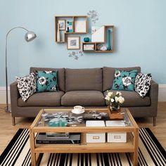 Ideias Decoração: Fotos de Salas de estar em Azul