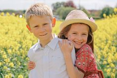 Children being in and enjoying nature is one of life's simple joys. I absolutely loved getting into a big yellow field with these adorable children! Rapeseed Field, Couple Posing, Couple Photos, Yellow Fields, Sister Photos, Big Yellow, Family First, Peeps, Brother