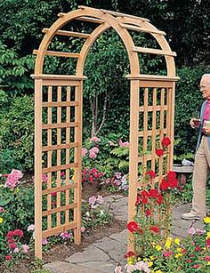 Pergola-Style Cedar Arbor Welcomes Guests to Your Garden
