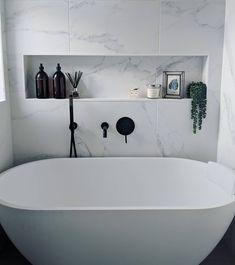 Bathroom Shelf Decor Built Ins Master Bath New Ideas Family Bathroom, Laundry In Bathroom, Modern Bathroom, Small Bathroom, Master Bathroom, Bad Inspiration, Bathroom Inspiration, Bathroom Renos, Bathroom Ideas