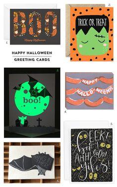 Cute & Spooky Happy Halloween Cards