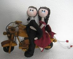 Bike wedding cake topper by CuteToppers, $95.00