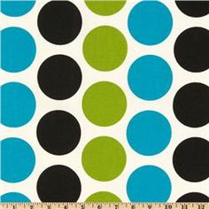 Polka dots w green and blue