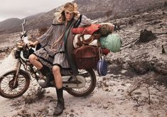 SUR LA ROUTE PHOTOGRAPHER: MIKAEL JANSSON MODEL: EDIE CAMPBELL STYLING: ANASTASIA BARBIERI HAIR: SHAY ASHUAL MAKE UP: LYNSEY ALEXANDER
