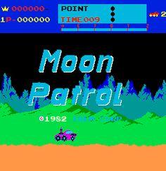 Moon Patrol Arcade Game ~ Williams 1982