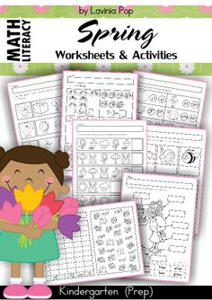 Kindergarten SPRING Math & Literacy unit. 94 pages in total.