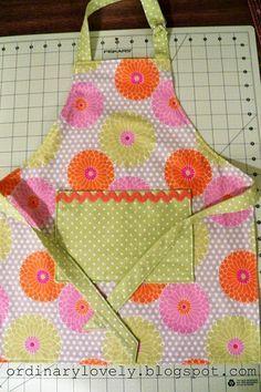 Toddler Apron Tutorial - easy to sew kids apron!!!