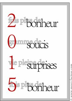 Carte Les voeux du nouvel an pour envoyer par La Poste, sur Merci-Facteur !