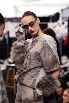 VivaLuxury - Fashion Blog by Annabelle Fleur: BACKSTAGE AT CAROLINA HERRERA FALL 2015 RTW WITH SK-II