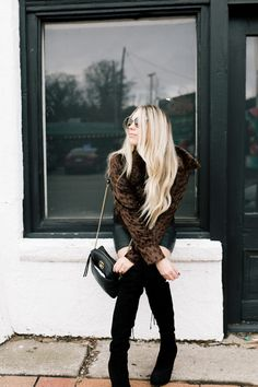 Winter outfit inspiration | How to style over the knee boots | Nashville Fashion Blogger