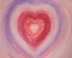 Pastel Heart oil painting by Anne Nordhaus-Bike.     This ethereal, pastel image suggests love's gentle power. This oil painting was inspired by Valentine's Day and painted after a meditation in order to pay homage to the heart's role in all things spiritual.