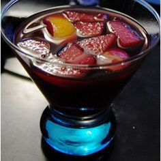 Sangria! Sangria! - Allrecipes.com  One of the reviews, switch brandy for rum and peach schnapps instead of triple sec.