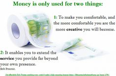 A lot of people have misconceptions regarding money.  Understand this, YOU were born rich and have the divine right to be rich.  Money provides ONLY 2 things: more Creativity and more Service. Feel GOOD about money :-)
