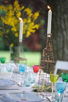 My French Country Home, French Living - Sharon SANTONI I love the candle holders