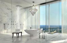 Badezimmer Designs mit Einbaukamine 2015