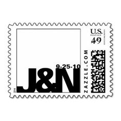 Black and White Wedding Stamp