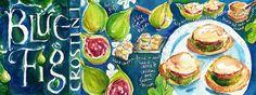 Blue Fig Crostini by Shirley Ng-Benitez Illustration
