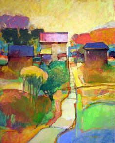 Great color and movement - I want to live there! -- art by Mark Gould