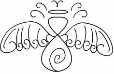 deviantART: More Like Simple Angel Tattoo with Swirl by ~Sol-Lepus