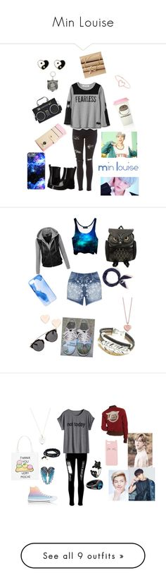 """""""Min Louise"""" by attack-on-bangtan on Polyvore featuring Topshop, Tory Burch, Love Is, Hot Topic, Accessorize, Pusheen, Mat, Ankit, WithChic and Ted Baker"""