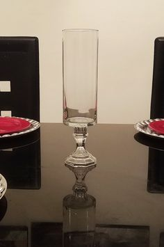 11' and 13' Glass Cylinder Vase, Centerpiece Vase, Candle Holder, Candy Buffet Jars, Candy Jars by LadyJunon on Etsy
