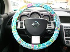 Lilly Pulitzer Steering Wheel Cover by mammajane on Etsy, $22.00 and it's my favorite Lilly pattern ⛵️