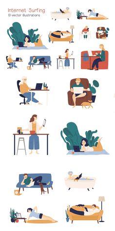 Flat Design Illustration, Simple Illustration, Graphic Illustration, Home Vector, Character Flat Design, Work Cartoons, Creative Calendar, Hand Sketch, Aba