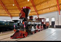 """B&O """"Thatcher Perkins"""" #147, a 4-6-0 ten-wheeler, was built in 1863 and actually carried American troops during the Civil War. It was retired in 1892 and in 1927 the railroad applied the name """"Thatcher Perkins"""" to the engine and changed it's road number to 117 for the B&O Fair of the Iron Horse centennial celebration. After suffering """"severe"""" damage after the collapse of the Railroad's Museum in 2003, it was beautifully restored back to it's original number for the first time since 1927."""