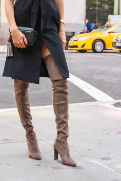 New York Fashion Week Fall 2015 Street Style - Louise Roe Streetstyle - Black Trench Dress 7