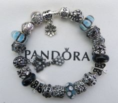 """Authentic Pandora Sterling Silver Bracelet Receipt, Hinged Gift Box and 21 European Beads/Charms """"FREE Shipping, FREE Grab- Bag"""""""