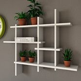 Brayden Studio Make a feature of accents and photographs with this Shept Mallet Accent shelf. The perfect alternative to a bookcase in your compact study. Unique Wall Shelves, Corner Wall Shelves, Cube Shelves, Floating Wall Shelves, Display Shelves, Shelving, Book Shelves, Regal Display, Empty Wall Spaces