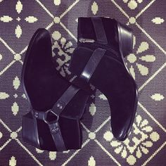 We love these basic black booties with just enough attention to detail.