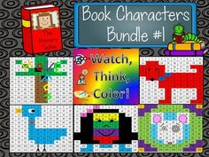 Book Characters Bundle 1 Watch, Think, Color Mystery Pictu Wemberly Worried, Book Activities, Teaching Resources, Teaching Ideas, 1st Grade Math, Second Grade, Powerpoint Games, Author Studies, Unit Plan