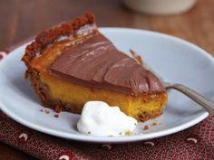 atmystyle:Pumpkin-Milk Chocolate Pie with Gingersnap Crust