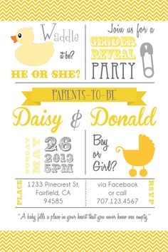 Printable Waddle it be Baby Gender Reveal/ Baby by PuzzlePrints, $15.00