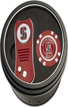 Team Golf Stanford CardinalSwitchfix Divot Tool and Poker Chip Ball Marker Set | Golf Chipping Tips | Golf Lessons | Golf Swing Drills | Golf Pitching Practice Drills. A solid brief video game can conserve you many shots on the golf course A chip shot is like a mini-swing. The following fundamentals will help ... #golfstagram #golffashion #Products Oklahoma Sooners, Ohio State Buckeyes, Stanford Cardinal, Golf Chipping, Chipping Tips, Tin Gifts, Montreal Canadiens, Alabama Crimson Tide, Golf Tips