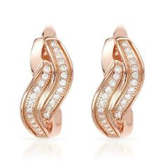 Gold Plated Silver Cubic Zirconia Ladies Earrings. Length 15 mm. Total Item weight 4.2 g. VividGemz. $77.00. Save 84% Off!