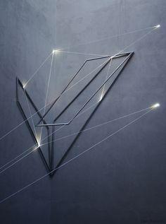 "atlantidex: "" Italian artist Carlo Bernardini plays with light and space to create his impressive installations. Light Art, Arch Light, Line Light, Arte Elemental, Instalation Art, Light And Space, Fiber Optic, Land Art, Light And Shadow"