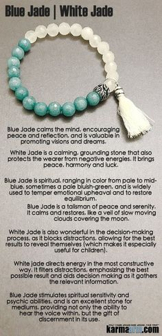 #Blue #Jade calms the mind, encouraging #peace and reflection, and is valuable in promoting #visions and #dreams. #Beaded #Beads #giftsforhim #Bracelet #Bracelets #Buddhist #Chakra #Charm #Crystals #Energy #gifts #Handmade #Healing #Jewelry #Kundalini #La http://kundaliniyogameditation.com/isnt-it-time-to-try-kundalini-yoga/