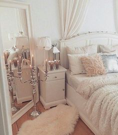 Immagine di bedroom, room, and white