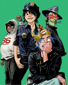 Gorillaz interview: Damon Albarn and Jamie Hewlett on Brexit, the royal wedding and their fun new album, The Now Now Gorillaz Band, Gorillaz Noodle, Gorillaz Fan Art, Murdoc Gorillaz, Gorillaz Wiki, Damon Albarn, Jamie Hewlett Art, 2d And Noodle, Monkeys Band