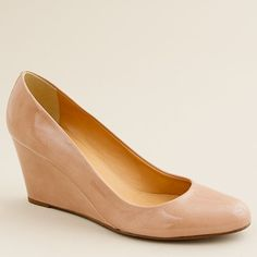 Nude Wedges!! Martina Patent Wedges by J.Crew