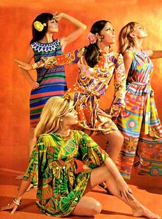 Psychedelic Fashion~ The Louis Feraud Mexican Collection, 1960s Mod Fashion, Sixties Fashion, Vintage Fashion, 1960s Fashion Hippie, 1960s Fashion Dress, 00s Mode, Psychedelic Fashion, Vintage Outfits, Vintage Dresses