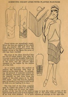 The Midvale Cottage Post: Home Sewing Tips of the 1920s - Pleated Flounces are Smart Fashion