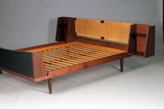 Bed by Hans J. Wegner for Ry Furniture | From a unique collection of antique and modern beds at http://www.1stdibs.com/furniture/more-furniture-collectibles/beds/