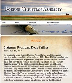 """Vision Forum's fallen patriarchal leader, Doug Phillips,has become a member of another church without obtaining the required """"letter of tra..."""