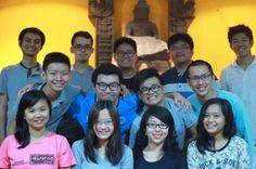 with new members of Ikatan Mahasiswa Buddhist (IKMAB) Universitas Sebelas Maret (UNS).  #Buddhism #Buddhist #Vihara #Temple #students #friends #friendship