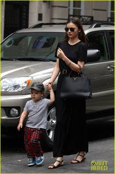 Miranda Kerr with Louis Vuitton Capucine bag.