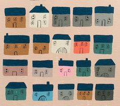 Little Paintings - Emily Isabella Type Illustration, Illustrations, Anthropologie Gifts, Building Drawing, Surface Design, Surface Pattern, City Landscape, 12 Days Of Christmas, Art