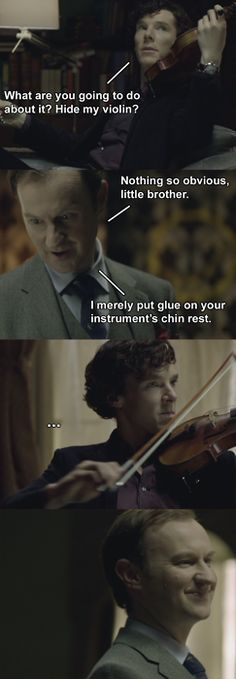 Sherlock and Mycroft Holmes everybody, the oldest 3 and 5 years old in the world Sherlock Holmes, Sherlock Fandom, Sherlock John, Watson Sherlock, Jim Moriarty, Sherlock Quotes, Martin Freeman, Benedict Cumberbatch, Detective
